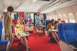 "In Los Angeles, ""passengers"" pay hundreds of dollars to dine in a movie set that resembles an old Pan Am 747 (Photo: Michael Kelley)"