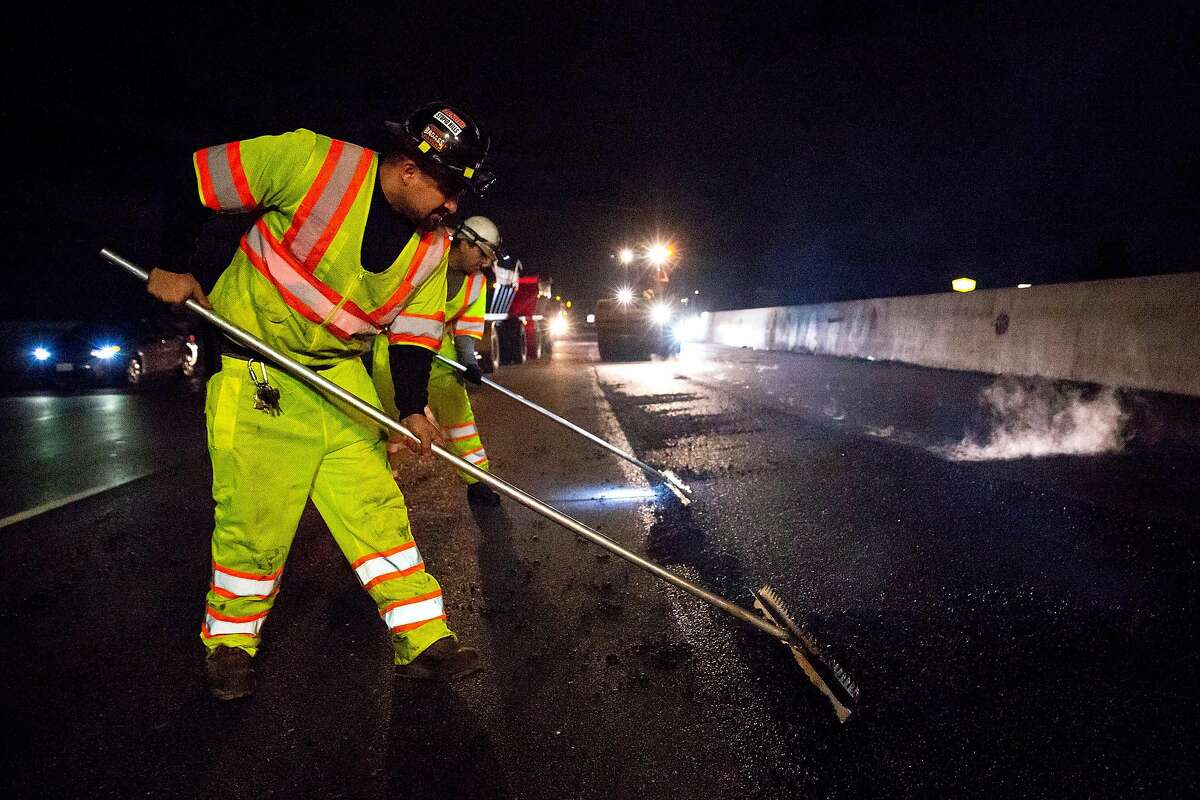 Repaving of much of Interstate 880 is being paid for by funds raised through the taxes that Proposition 6 sought to repeal.