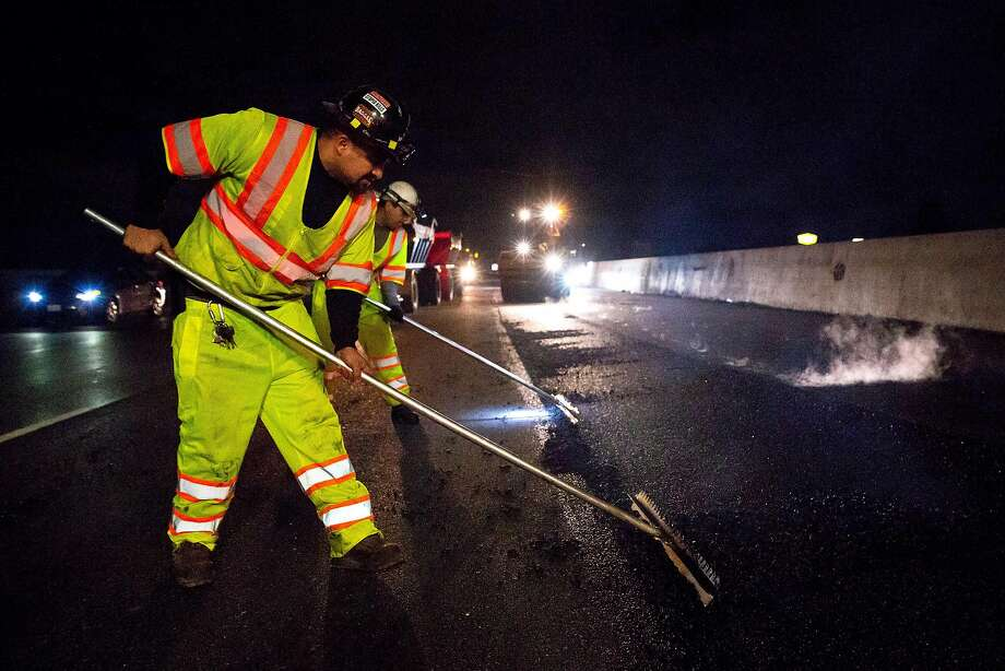 Repaving of much of Interstate 880 is being paid for by funds raised through the taxes that Proposition 6 sought to repeal. Photo: Brittany Hosea-Small / Special To The Chronicle