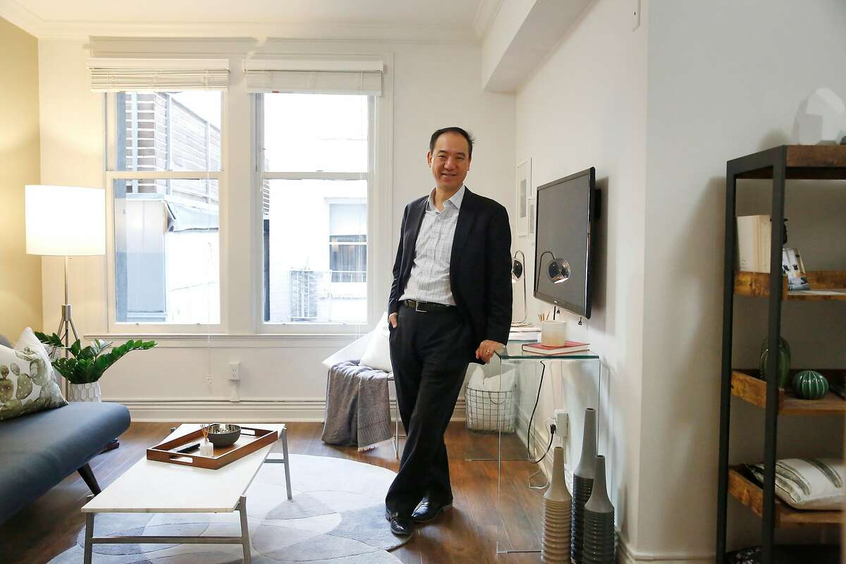 Yat-Pang Au, chief executive officer Veritas Investments, stands for a portrait in an existing unit at 735 Taylor that has been remodeled on Wednesday, December 6, 2017 in San Francisco, Calif. This is not an accessory dwelling unit.