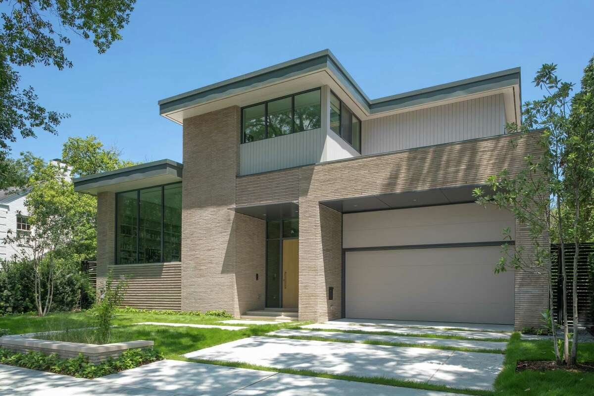 This modern home at 2326 Tangley was designed by Dillon Kyle Architects.