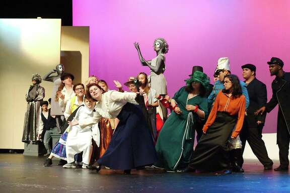 """Sadie Aiken, front center, performs the title role in """"Mary Poppins."""""""