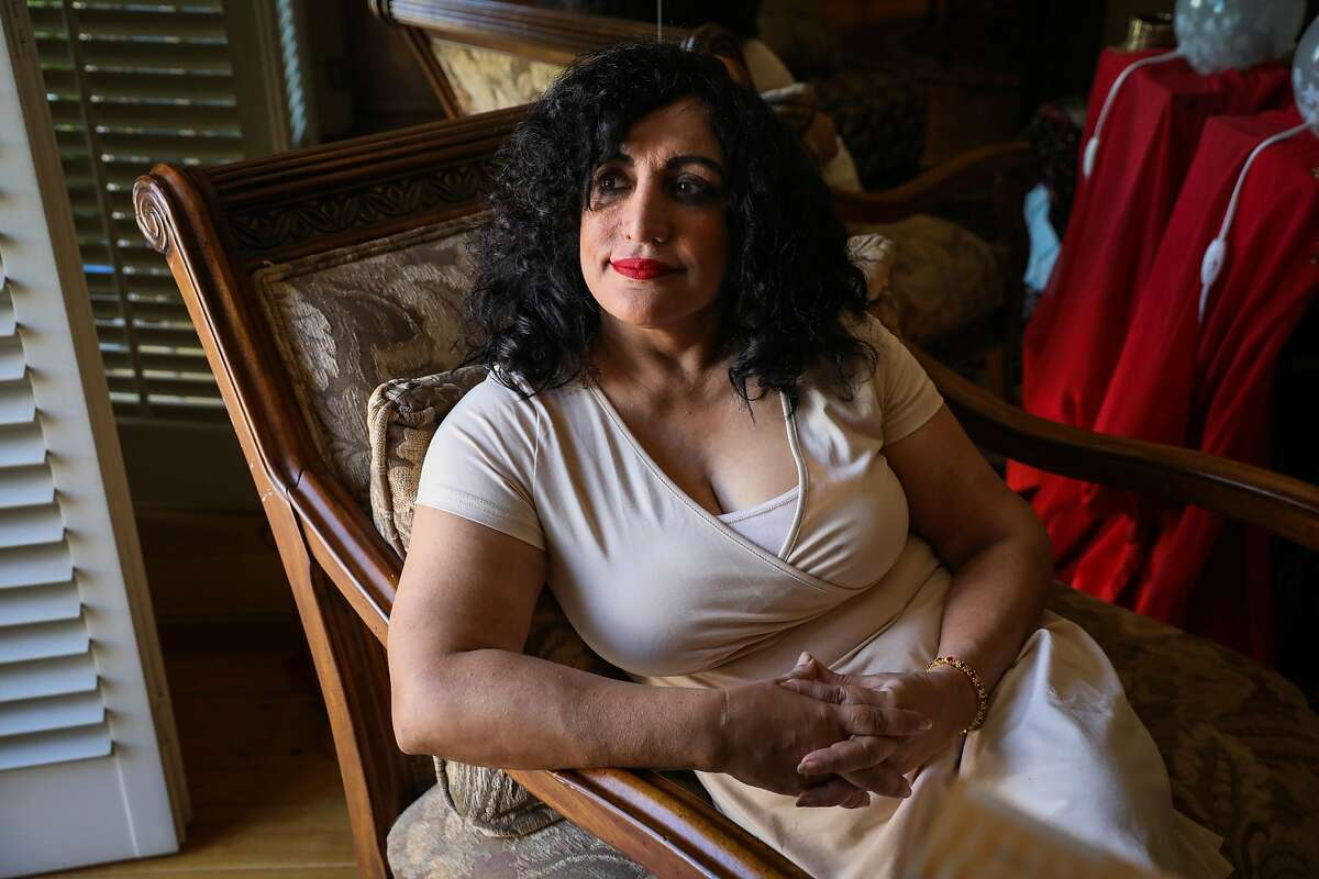 Samina Masood, the former executive director for Silicon Valley FACES poses for a portrait in her home in San Jose, California, on Sunday, Sept. 30, 2018.