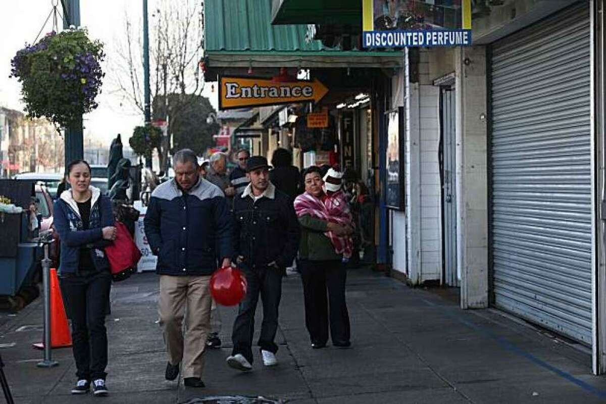 Two employees were killed at a souvenir shop located at 269 Jefferson St. (far right) at Fisherman's Wharf in San Francisco, Calif., by a next door merchant (alley store located just next to it) last night during closing. Victims are Quiong Han Chu and Feng Ping Ou, both 30 years old.