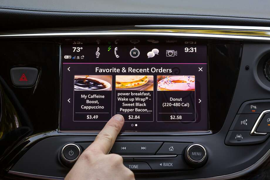 The Marketplace system from General Motors lets people order and pay for items without a phone. Photo: John F. Martin / Chevrolet