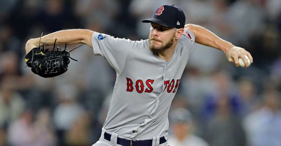 NEW YORK, NEW YORK - OCTOBER 09:  Chris Sale #41 of the Boston Red Sox pitches in the eighth against the New York Yankees during Game Four American League Division Series at Yankee Stadium on October 09, 2018 in the Bronx borough of New York City. (Photo by Elsa/Getty Images) Photo: Elsa/Getty Images