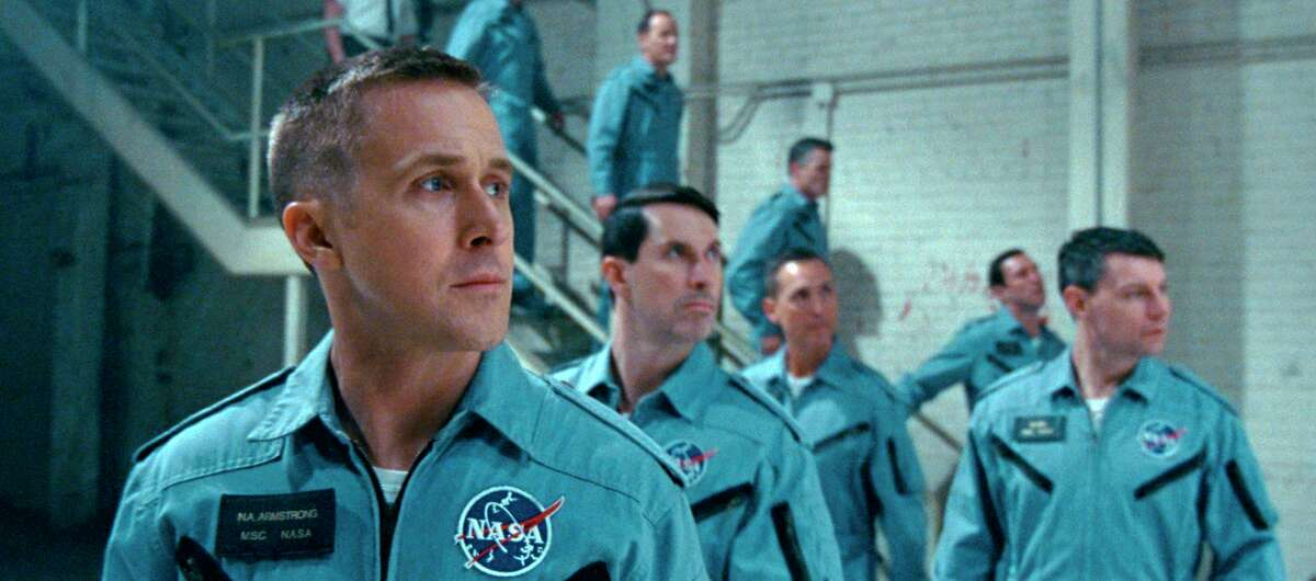 """This image released by Universal Pictures shows Ryan Gosling in a scene from """"First Man."""" (Universal Pictures via AP)"""