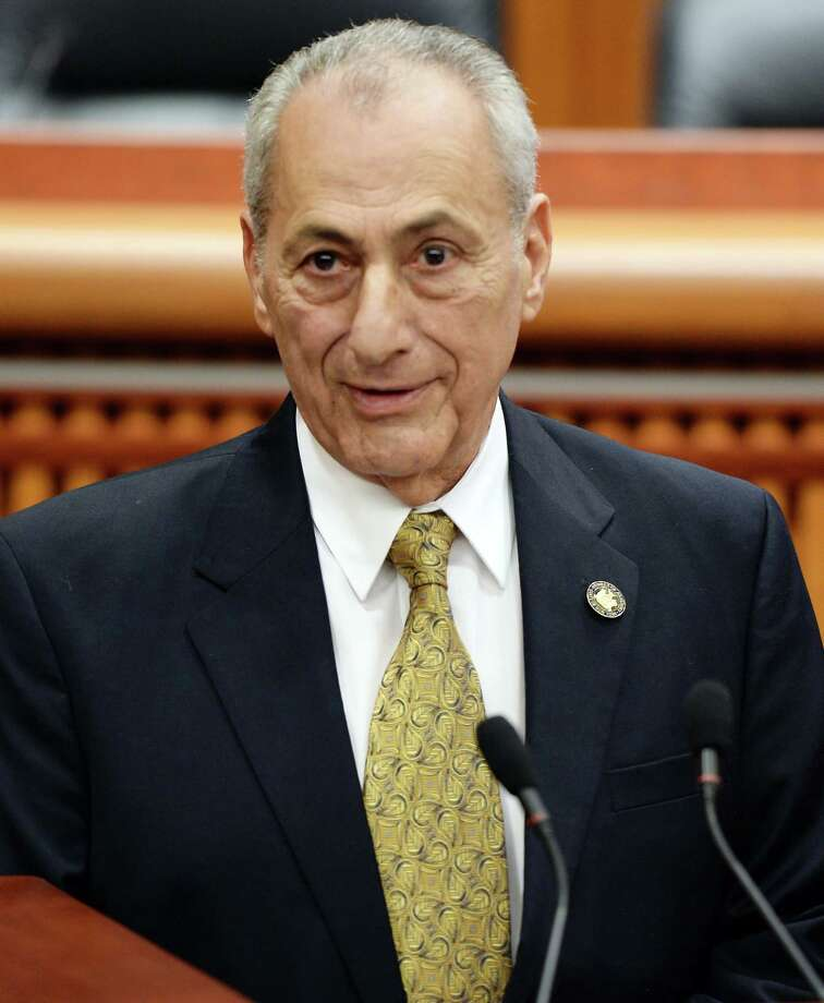 Assemblyman Joseph Errigo speaks after being  sworn-in during a ceremony at the LOB Tuesday Jan. 3, 2017 in Albany, NY.  (John Carl D'Annibale / Times Union) Photo: John Carl D'Annibale / 20039295A
