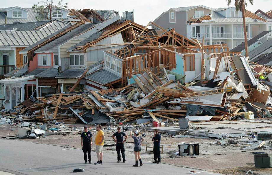 Rescue personnel perform a search in the aftermath of Hurricane Michael in Mexico Beach, Fla., Thursday, Oct. 11, 2018. (AP Photo/Gerald Herbert) Photo: Gerald Herbert / Copyright 2018 The Associated Press. All rights reserved.