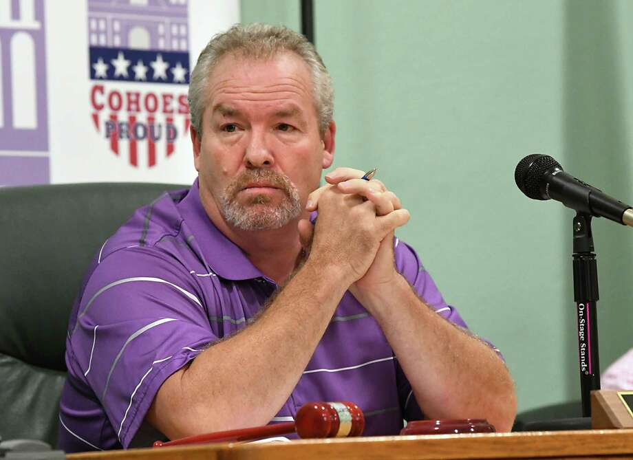 Mayor Shawn Morse leads a Cohoes Common Council meeting at Cohoes City Hall on Tuesday, Oct. 9, 2018 in Cohoes, N.Y. (Lori Van Buren/Times Union) Photo: Lori Van Buren / 20045066A