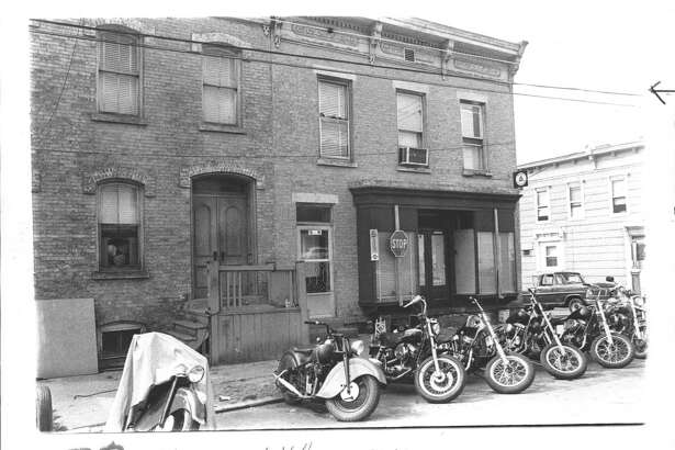 Hell's Angels Motorcycle Club, Troy, New York, 299 Ninth Street. August 18, 1978 (Times Union Archive)