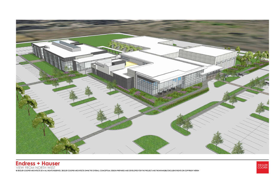 Rendering of new Endress+Hauser facility in Pearland. Photo: Ziegler Cooper