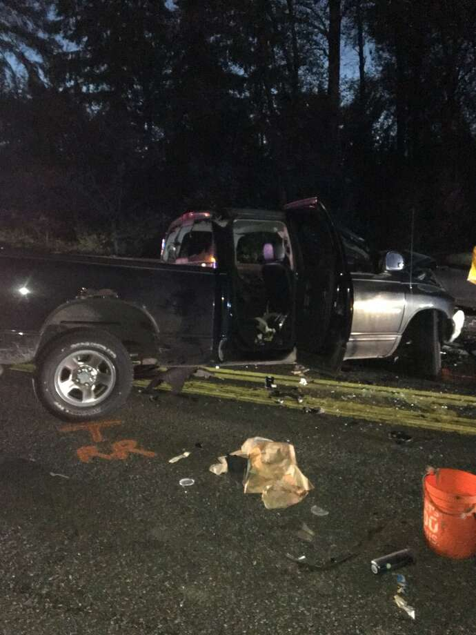 State Route 18 was closed between the Issaquah-Hobart Road and the  Interstate 90 junction Friday morning after a fatal collision blocked  the highway. Photo: State Patrol