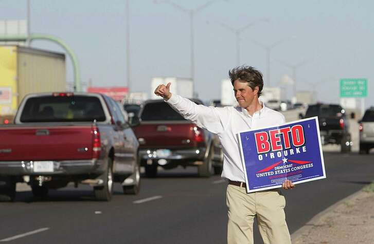 Beto O'Rourke out on the campaign trail as he makes his run for congress along Gateway Blvd East.