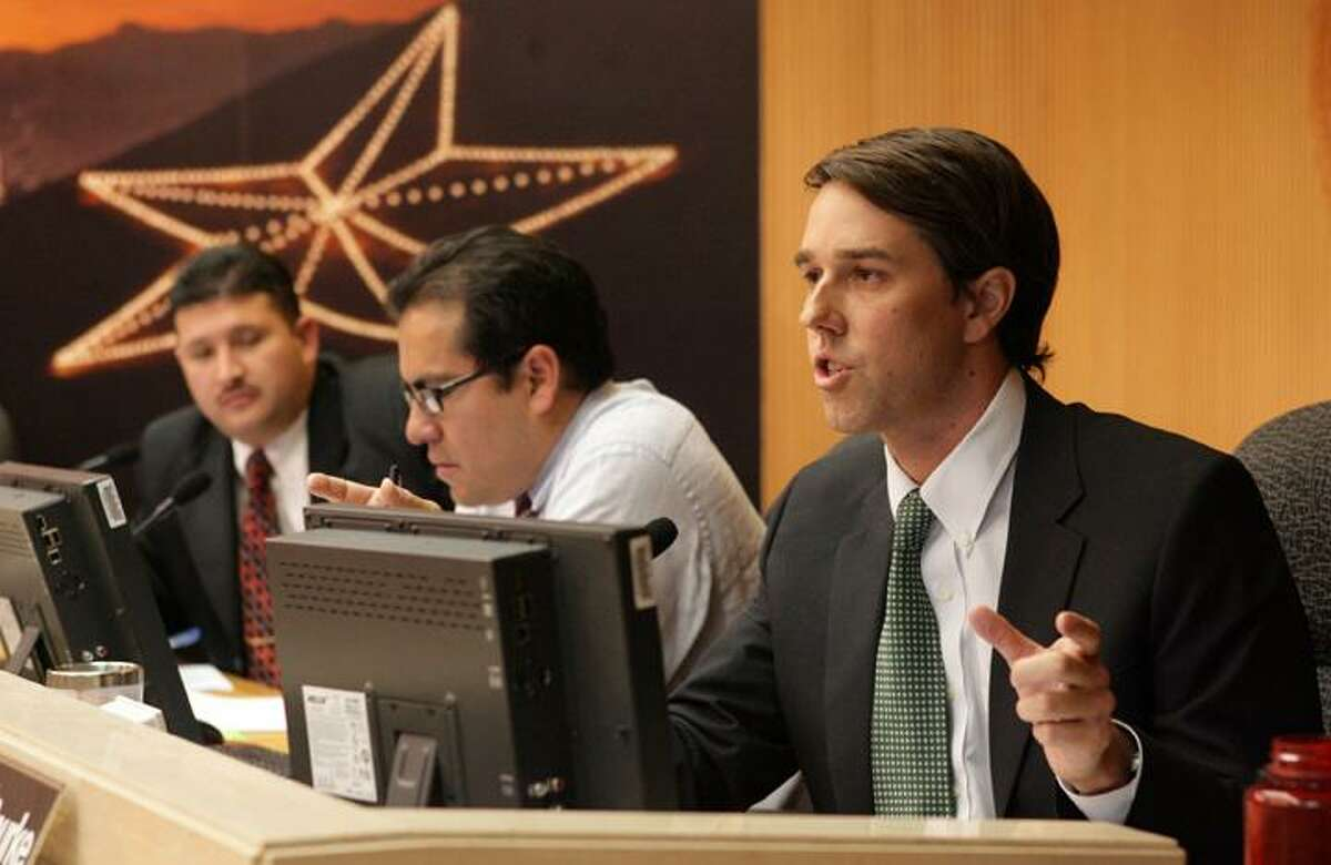 Beto O'Rourke while serving on El Paso city council.