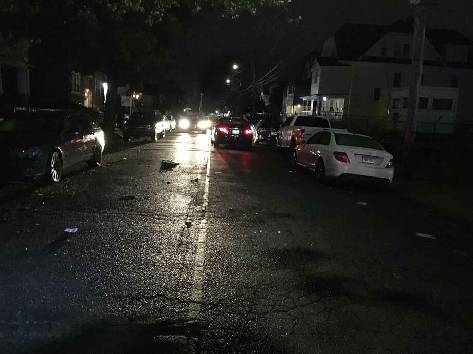 A pedestrian is in grave condition after he was stuck on East Avenue in Bridgeport early Friday morning, Oct. 12, 2018. Photo: Contributed Photo /