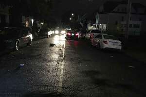 A pedestrian is in grave condition after he was stuck on East Avenue in Bridgeport early Friday morning, Oct. 12, 2018.