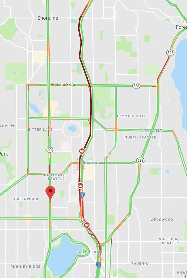 SB I-5 closed in Northgate - seattlepi.com