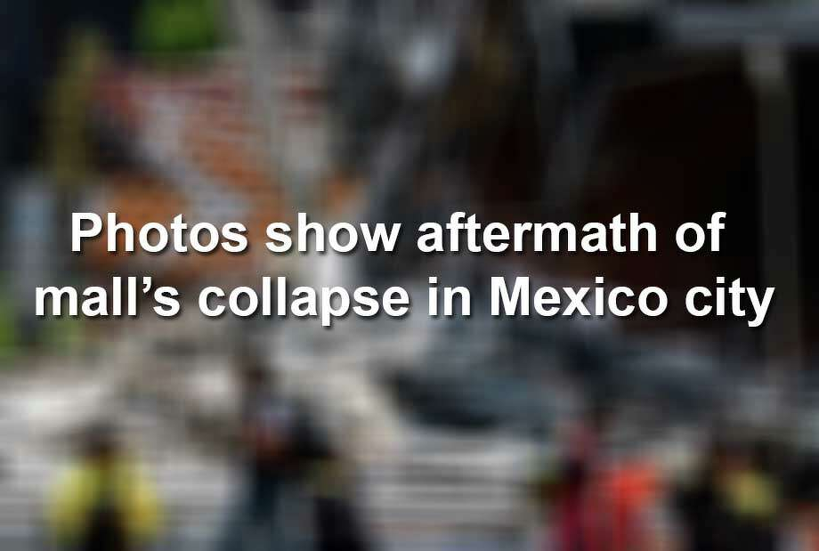 Keep scrolling to see the shocking aftermath of a Mexico City shopping Mall collapsing. Photo: RONALDO SCHEMIDT/AFP/Getty Images