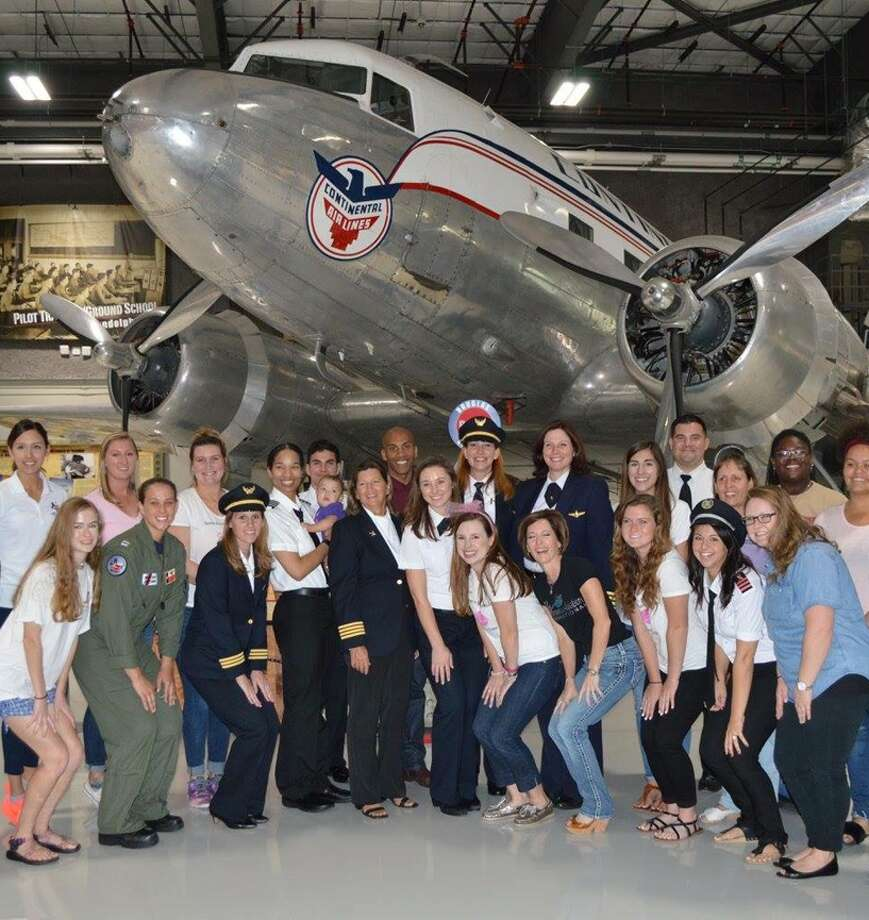 Pictured is the Girls in Aviation Day event hosted by the Houston chapter of Women in Aviation International in 2017. Photo: Houston Chapter Of Women In Aviation International