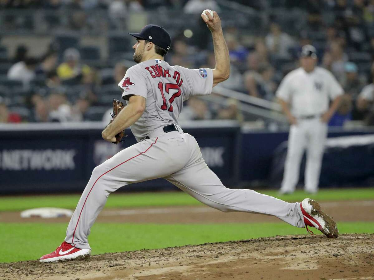 Nathan Eovaldi delivers against the Yankees in Game 3 of the ALDS to help the Red Sox advance.