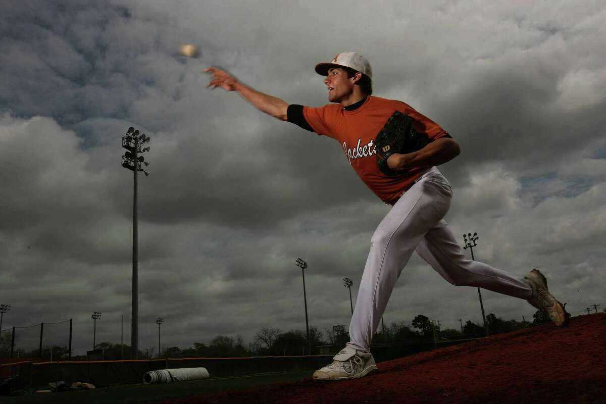 Nathan Eovaldi, pitching at Alvin, where he had his first Tommy John surgery.