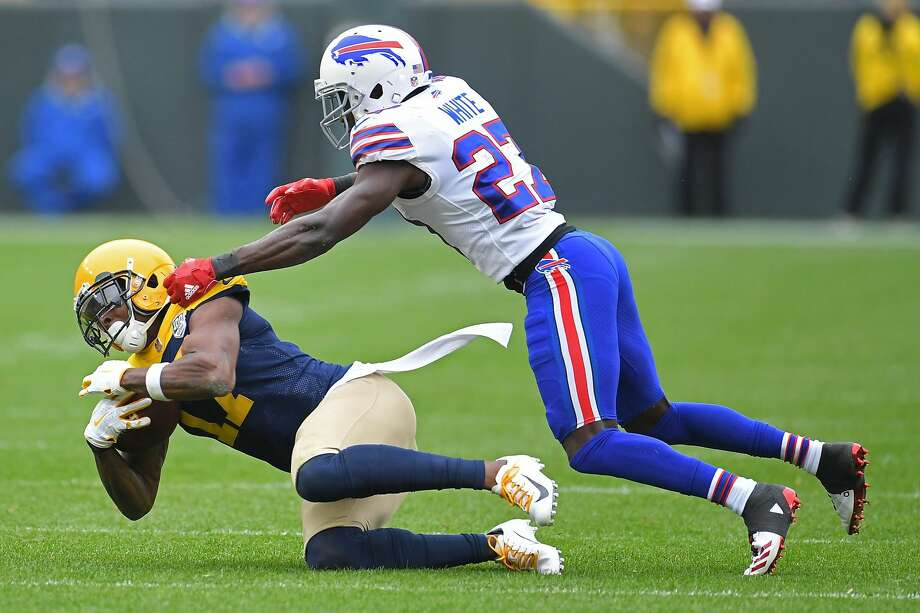 PHOTOS: John McClain's 2018 Week 6 predictions  GREEN BAY, WI - SEPTEMBER 30:  Davante Adams #17 of the Green Bay Packers catches a pass in front of Tre'Davious White #27 of the Buffalo Bills during a game at Lambeau Field on September 30, 2018 in Green Bay, Wisconsin.  (Photo by Stacy Revere/Getty Images) >>>See the General's picks for the sixth week of NFL action ... Photo: Stacy Revere/Getty Images