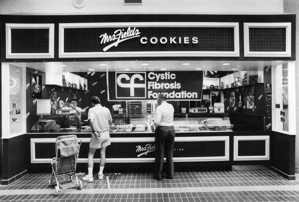 Mrs. Fields Cookies: All cookies are good, but these are especially good No trip to a mall in the 1980s was complete without a hot-out-of-the-oven Mrs. Fields cookie. The white chocolate macadamia nut melted in your mouth (file photo).
