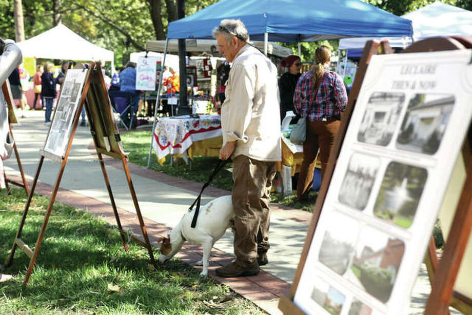 A scene from a previous Leclaire Parkfest. Photo: Intelligencer Photo
