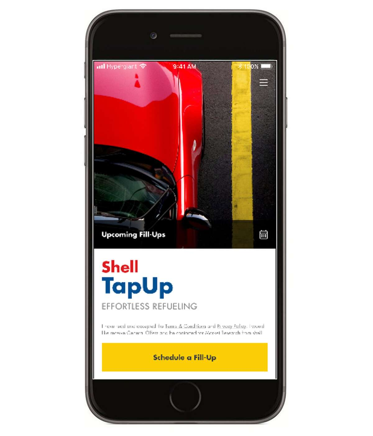 Shell's TapUp smartphone app will let you summon a fillup right to your car.