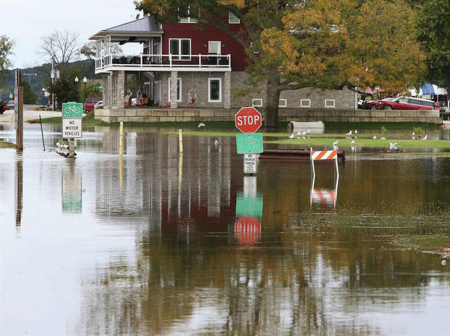 Flooding and flood preparation in Grafton and West Alton. Photo: John Badman | The Telegraph