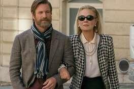 "Marthe Keller and Aaron Eckhart ""The Romanoffs."""