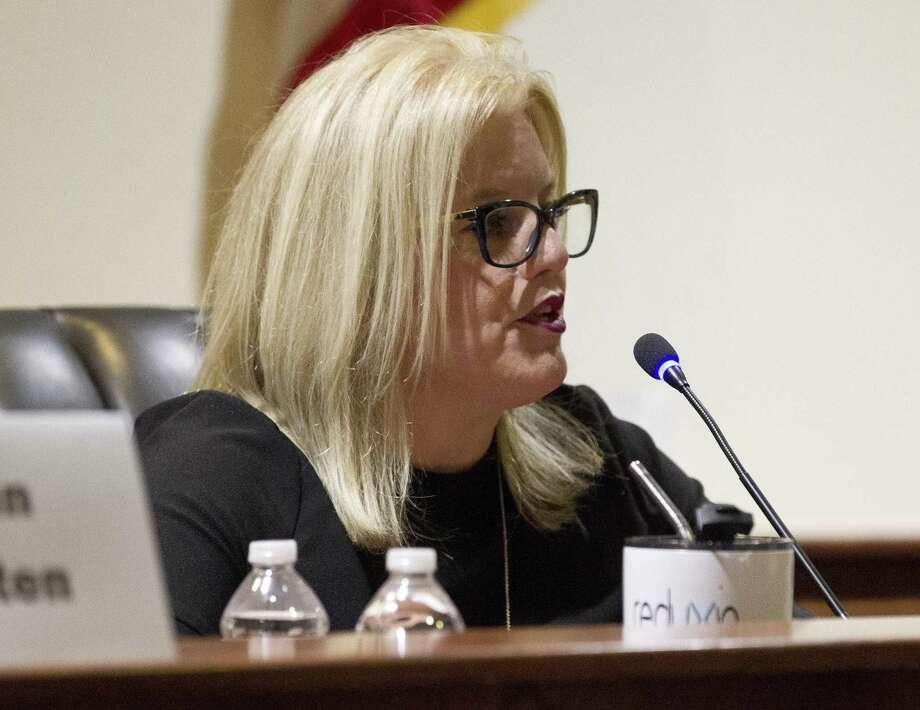 Sara Countryman speaks during a Montgomery City Council candidate forum at Montgomery City Hall, Tuesday, April 18, 2018, in Montgomery. Photo: Jason Fochtman, Staff Photographer / Houston Chronicle / © 2018 Houston Chronicle