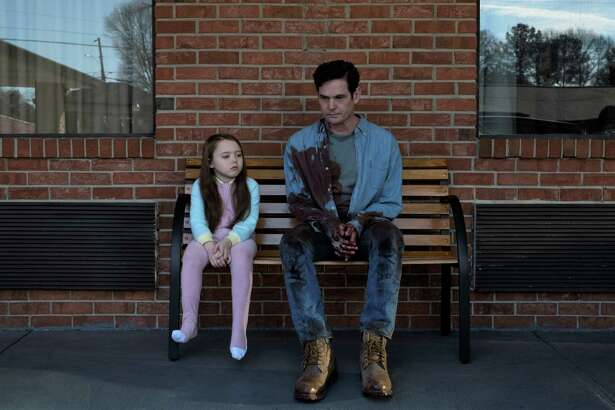 "Henry Thomas with young co-star Violet Mcgraw in Netflix chiller ""The Haunting of Hill House."" Photo: Steve Dietl/Netflix"