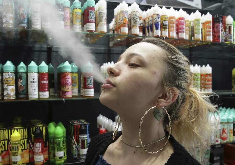 The number of Connecticut high school students who used vaping products, such as e-cigarettes, doubled from 2015 to 2017, according to a new study released by the state Department of Public Health. Click through to see what kinds of regulations Connecticut has on e-cigarettes as well as some facts about e-cigarettes in the United States. Photo: Tom Reel / San Antonio Express-News / 2017 SAN ANTONIO EXPRESS-NEWS
