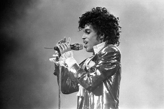Prince performs Jan. 10, 1985, in the first of six concert appearances at the Summit.
