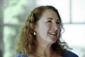U.S. Rep. Elizabeth Esty visits with seniors at the Brookfield Senior Center in July.
