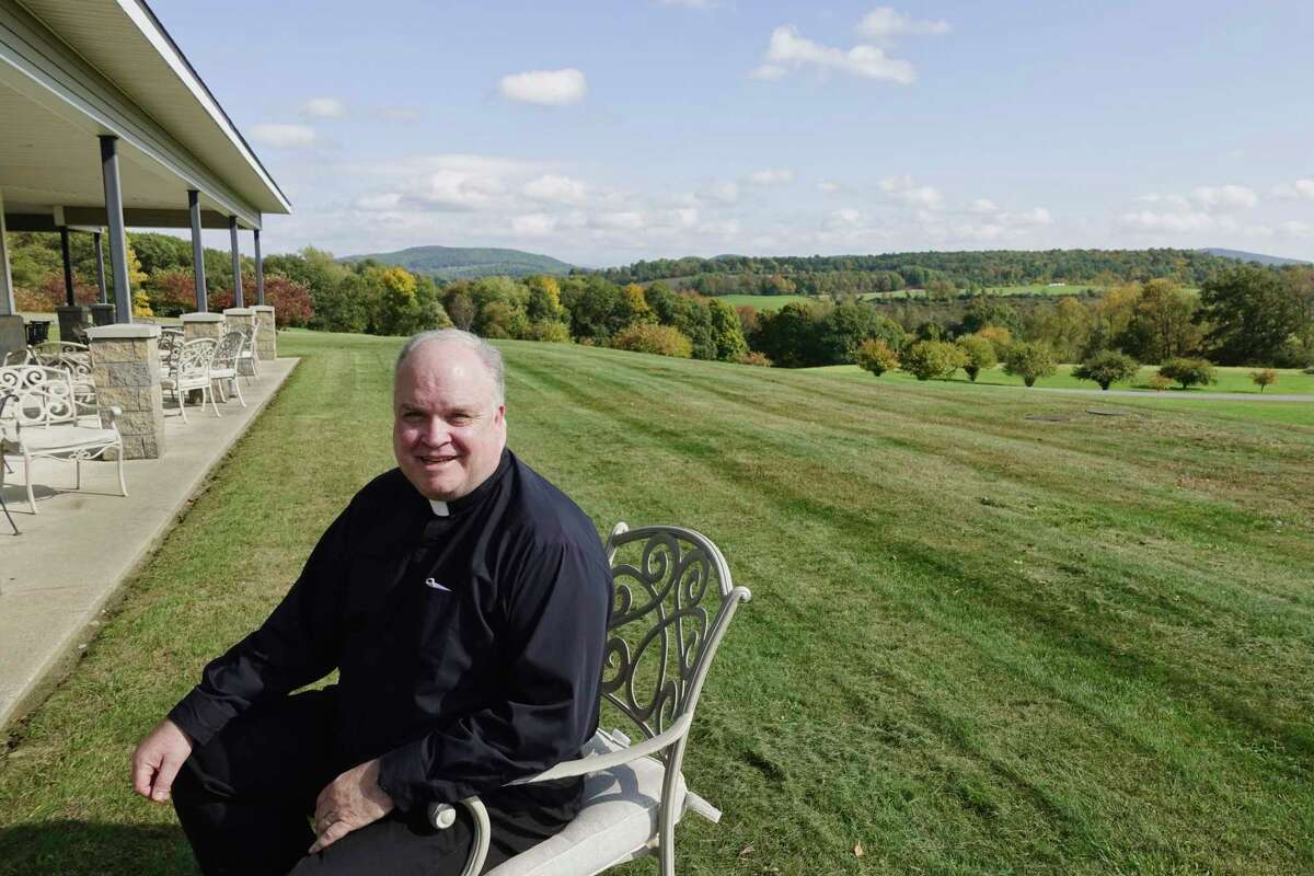 Father Mark Chesnut, who directs the healing ministry on the Christ the King Episcopal campus, poses for a photo on Tuesday, Oct. 9, 2018, in Greenwich, N.Y. (Paul Buckowski/Times Union)