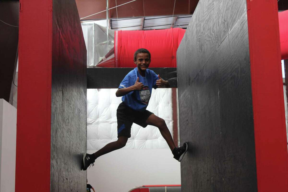 Anthony's training regimen consists of cardio and going through obstacles.