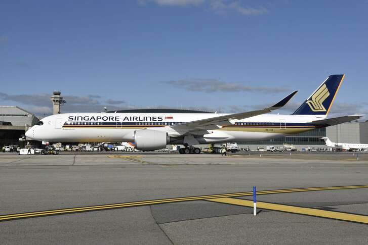 Singapore Airlines' Airbus A350-900ULR at New York - Newark for inaugural nonstop to Singapore
