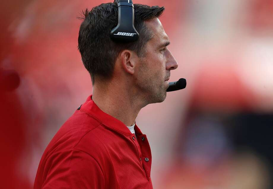 San Francisco 49ers head coach Kyle Shanahan watches the game from the sidelines against the Arizona Cardinals in the fourth quarter at Levi's Stadium in Santa Clara, Calif., on Sunday, Oct. 7, 2018. (Nhat V. Meyer/Bay Area News Group/TNS) Photo: Nhat V. Meyer / TNS