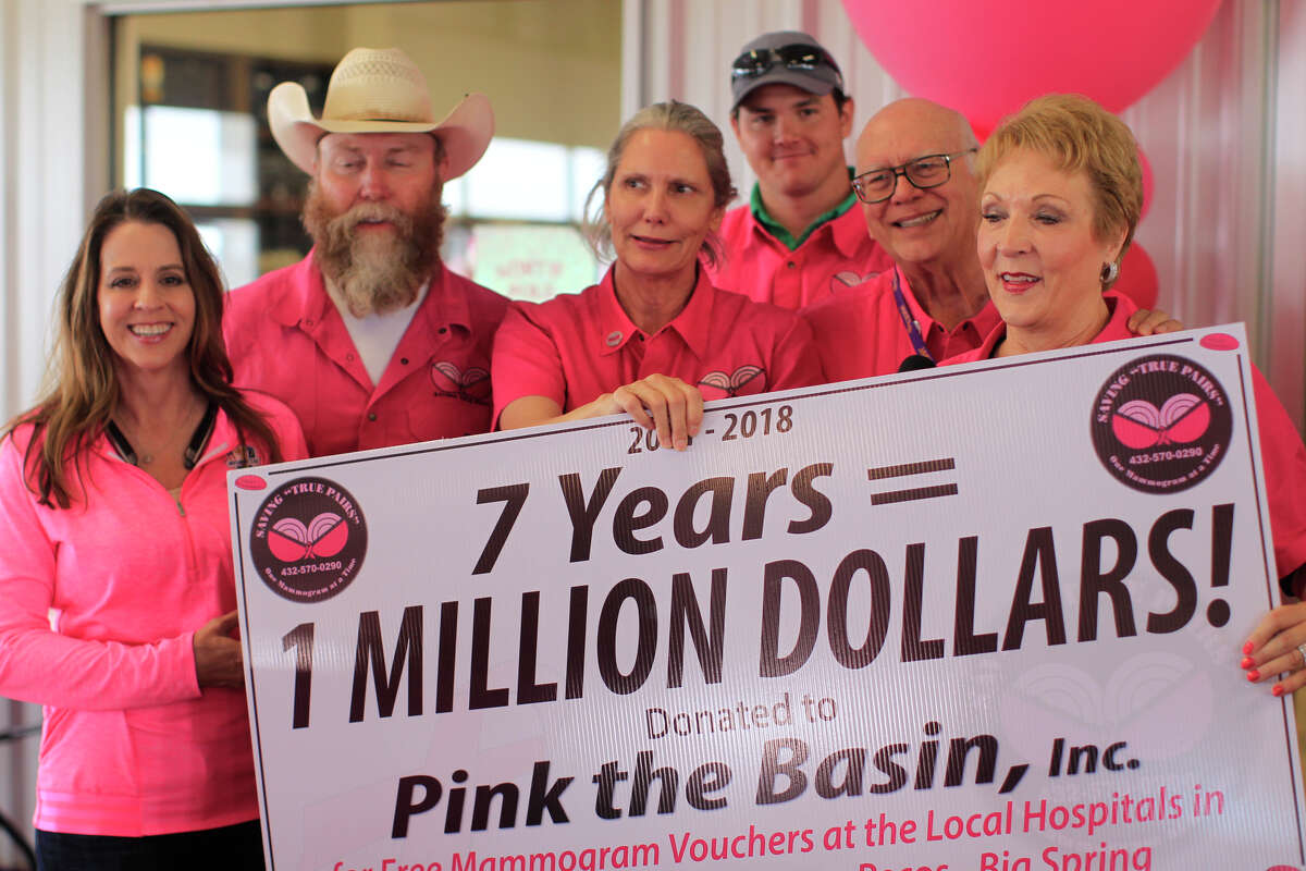Saving True Pairs clay shoot fundraiser for Pink The Basin Oct. 12, 2018, at Jake's Clays. James Durbin/Reporter-Telegram