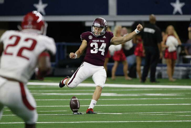 Braden Mann, who also handles kickoff duties for the Aggies, has been a difference maker in the field-position game. He needs one more punt of 60-plus yards to tie the NCAA single-season record.