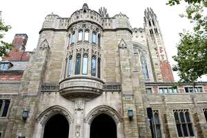 The Sterling Law Building houses the Yale Law School in New Haven.