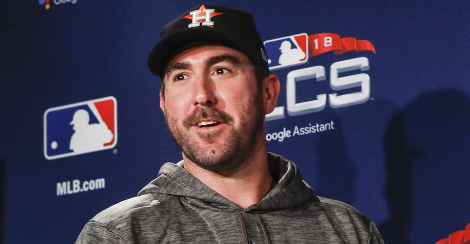 PHOTOS: Astros' workout Houston Astros pitcher Justin Verlander arrives to a news conference before workouts for Game 1 of the American League Championship Series at Fenway Park on Friday, Oct. 12, 2018, in Boston. Browse through the photos to see the Astros' workout before Game 1 of the ALCS at Fenway Park in Boston. Photo: Brett Coomer/Staff Photographer
