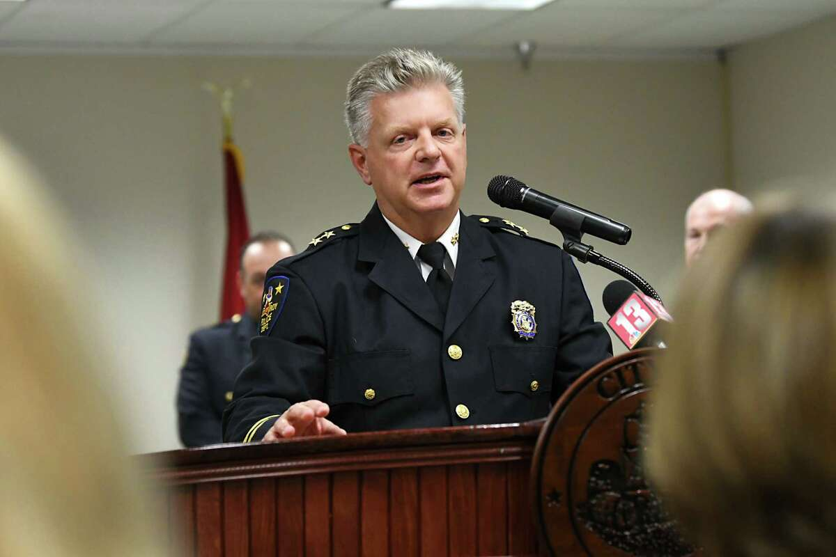 Troy Deputy Police Chief Daniel DeWolf said a possible explanation for the drop in juvenile arrests may be the increase in the use of school resource officers in local schools over the years. The city went from 187 stops involving juvenile criminal activity in 2014 to just 72 in 2018. File photo. (Lori Van Buren/Times Union)