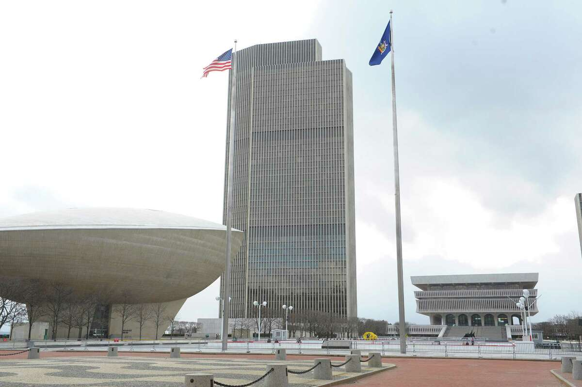 A view of the Corning Tower on the Empire State Plaza on Monday afternoon, Feb. 4, 2013 in Albany, NY. (Paul Buckowski / Times Union)