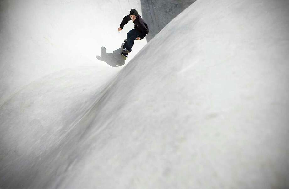 Jon Bonaldo takes a ride in the skate park at Scalzi Park on Oct. 14, 2009. Photo: Kathleen O'Rourke / File Photo