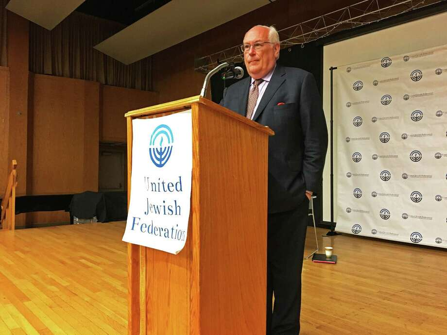 Mark Shiffrin, a former state commissioner, was the stand-in recently for Republican gubernatorial candidate Bob Stefanowski in Stamford. Photo: Contributed Photo / Contributed Photo / Stamford Advocate  contributed