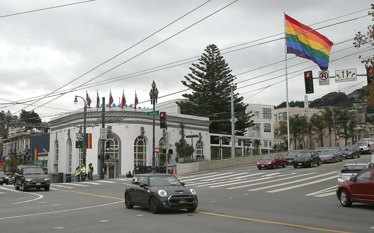 Harvey Milk Plaza celebrates Milk's 40th anniversary since being elected to the board of supervisors on Wednesday, November 8, 2017, in San Francisco, Calif. The former Bank of America building will be lit in his honor during a ceremony tonight.